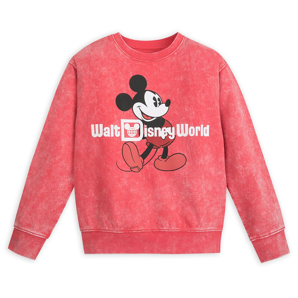 Mickey Mouse Mineral Wash Sweatshirt for Kids ? Walt Disney World ? Red
