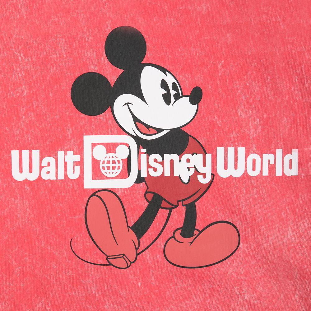 Mickey Mouse Mineral Wash Sweatshirt for Kids – Walt Disney World – Red