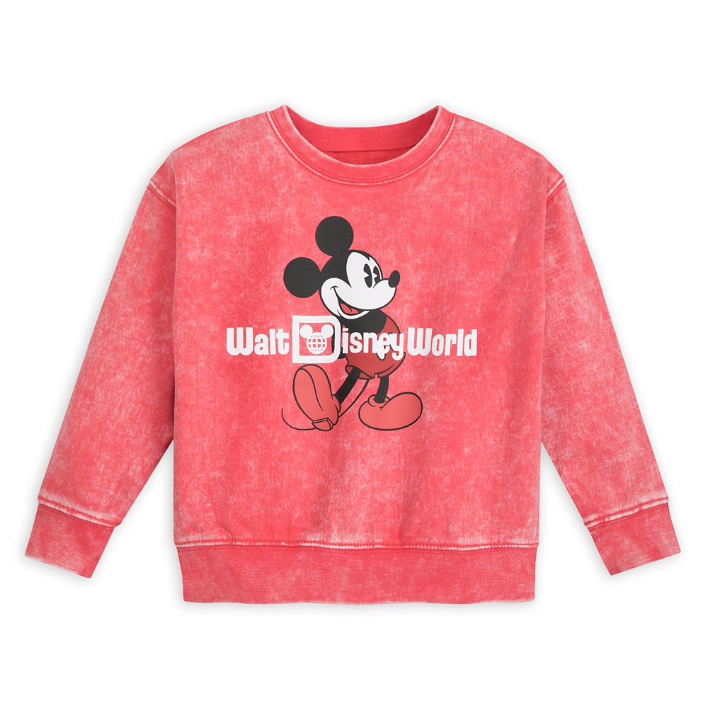 Mickey Mouse Mineral Wash Sweatshirt for Toddlers – Walt Disney World – Red