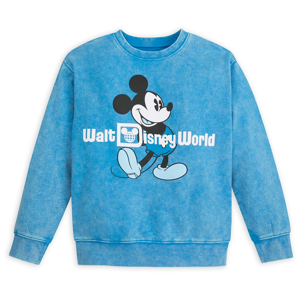 Mickey Mouse Mineral Wash Sweatshirt for Kids – Walt Disney World – Blue
