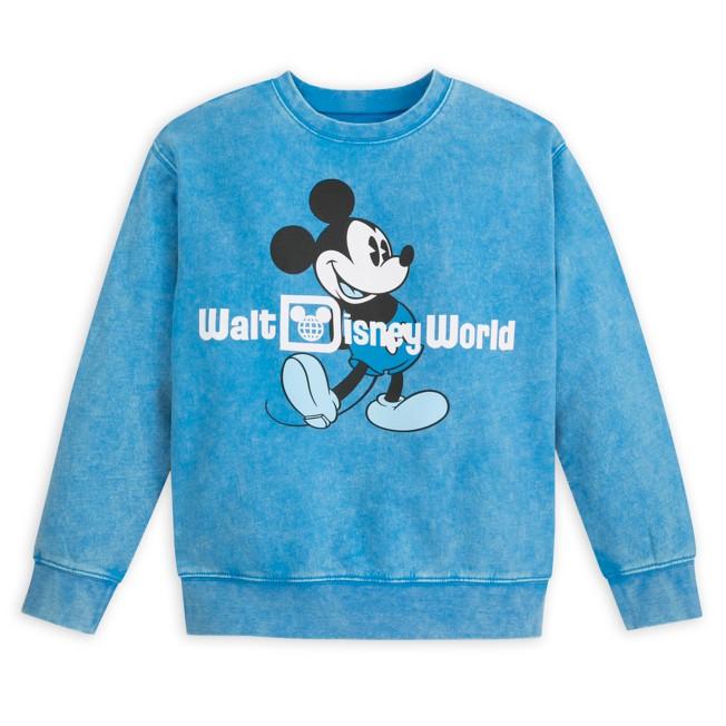 Mickey Mouse Mineral Wash Sweatshirt for Kids – Walt Disney World – Blue