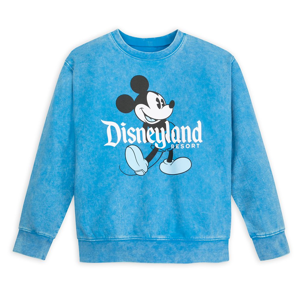 Mickey Mouse Mineral Wash Sweatshirt for Kids – Disneyland – Blue