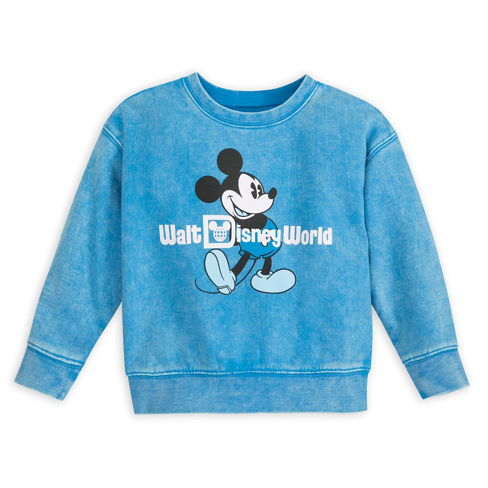 Mickey Mouse Mineral Wash Sweatshirt for Toddlers – Walt Disney World – Blue