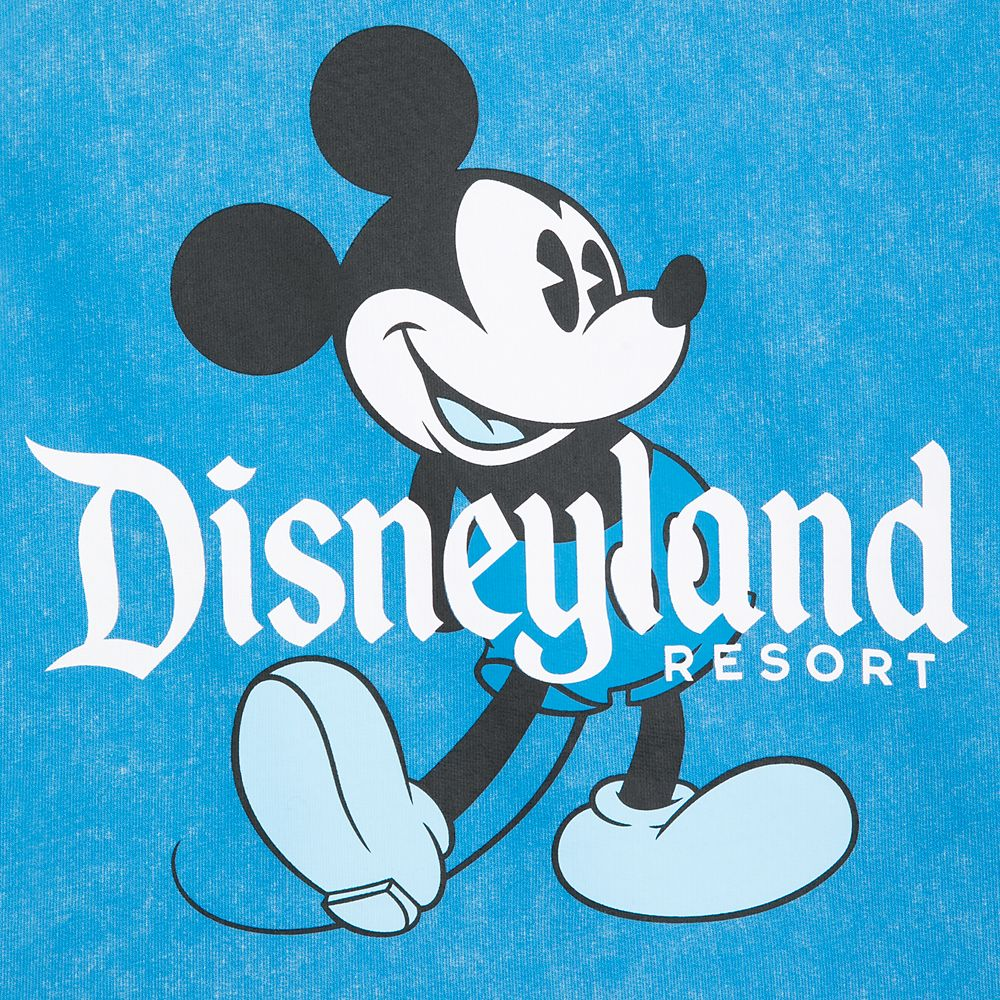Mickey Mouse Mineral Wash Sweatshirt for Toddlers – Disneyland – Blue