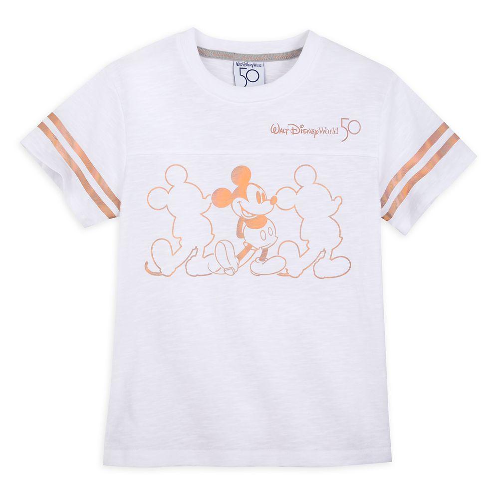 Walt Disney World 50th Anniversary Football T-Shirt for Kids