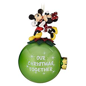 "Minnie and Mickey Mouse ""Our Christmas Together"" Ornament"