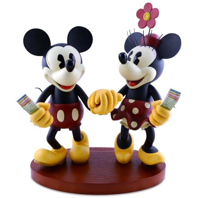 Pie-Eyed Minnie and Mickey Mouse Figure
