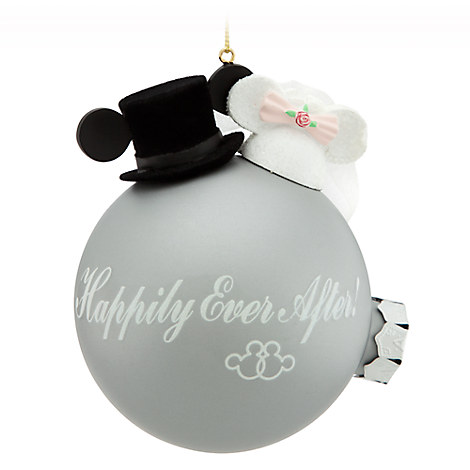 Minnie and Mickey Mouse Wedding Ornament