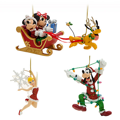 Mickey Mouse and Friends Ornament Set - Holiday