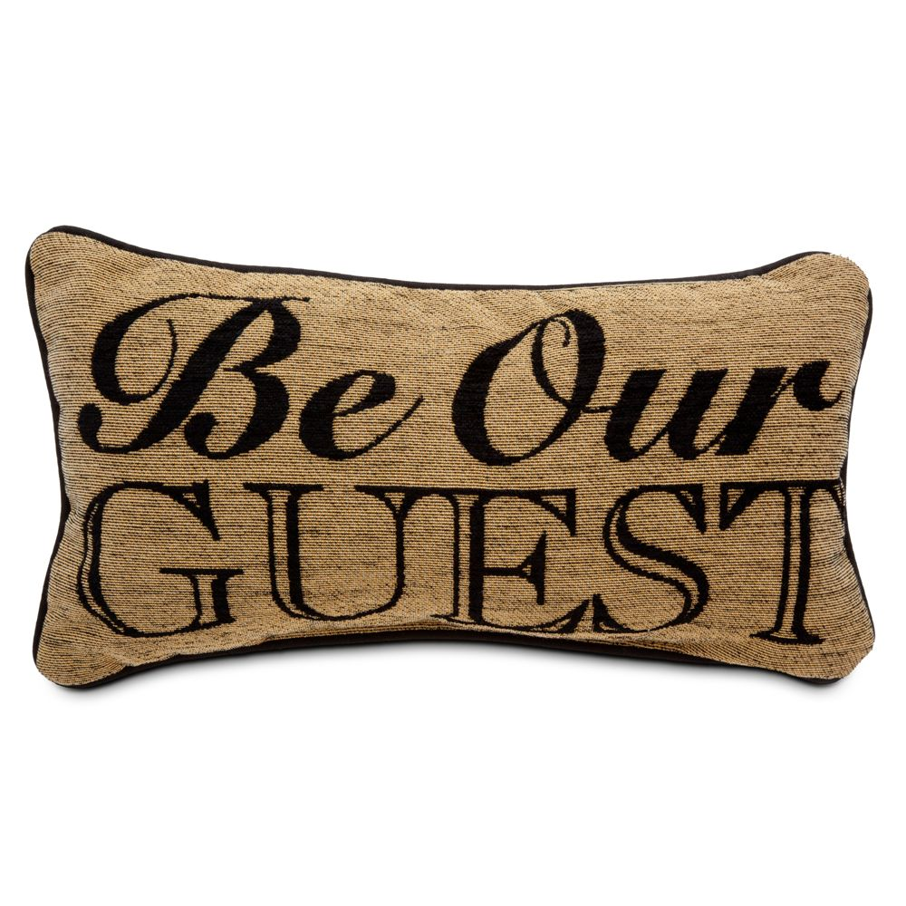 Beauty and the Beast Pillow – ''Be Our Guest''