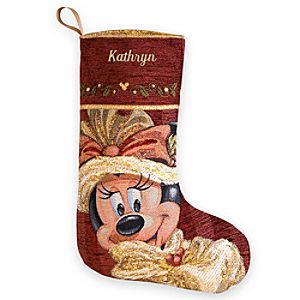 Minnie Mouse Victorian Holiday Stocking - Personalizable