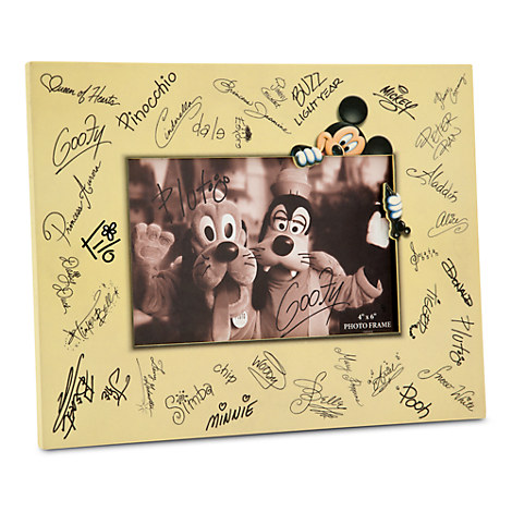 Disney Characters Signature Photo Frame - 4'' x 6''