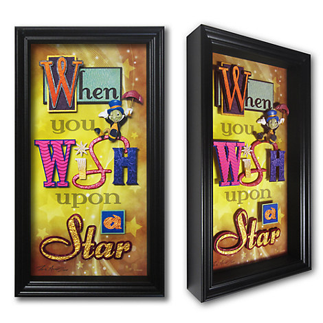 Jiminy Cricket ''When You Wish Upon a Star'' Shadowbox by Dave Avanzino