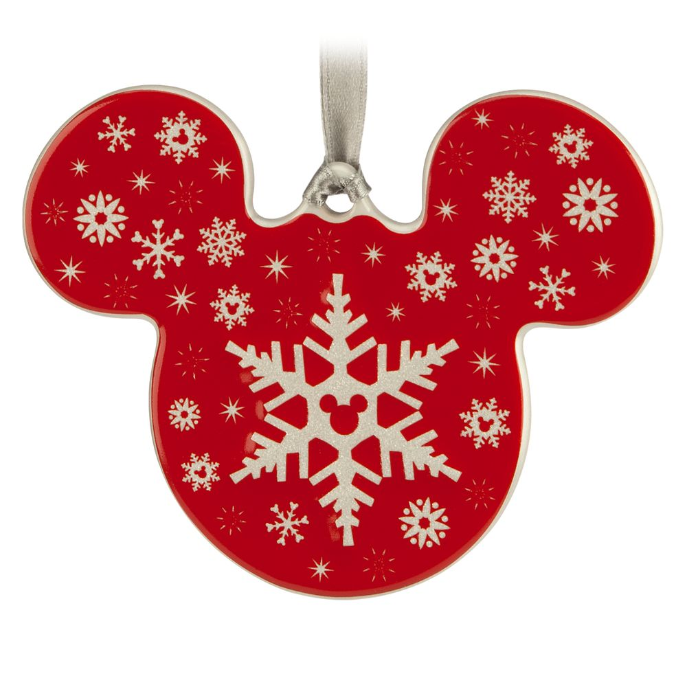 Mickey Icon Ornament – Snowflake