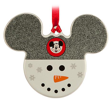 Mickey Icon Ornament - Snowman