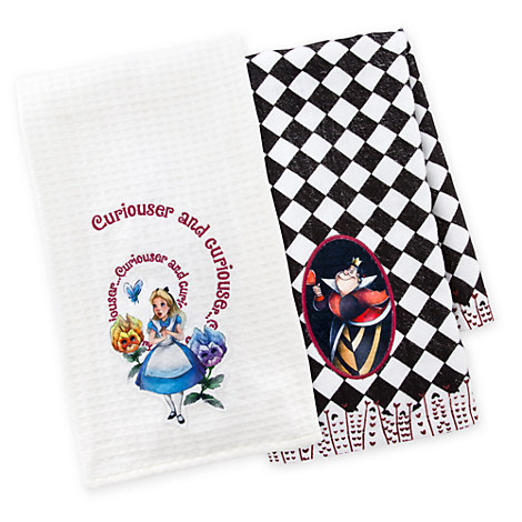 Alice in Wonderland Dish Towel Set