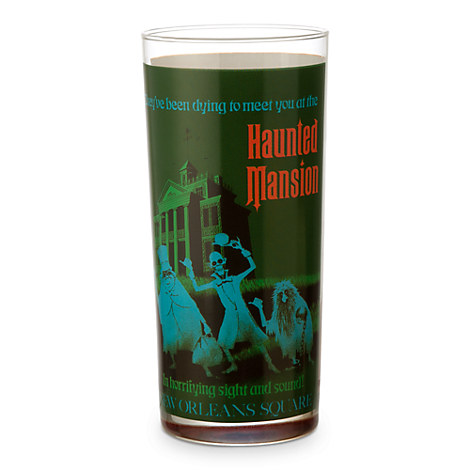 Disney Parks Attraction Poster Tall Glass Tumbler - Haunted Mansion/Pirates of the Caribbean
