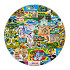Magic Kingdom Map Plate - 11''