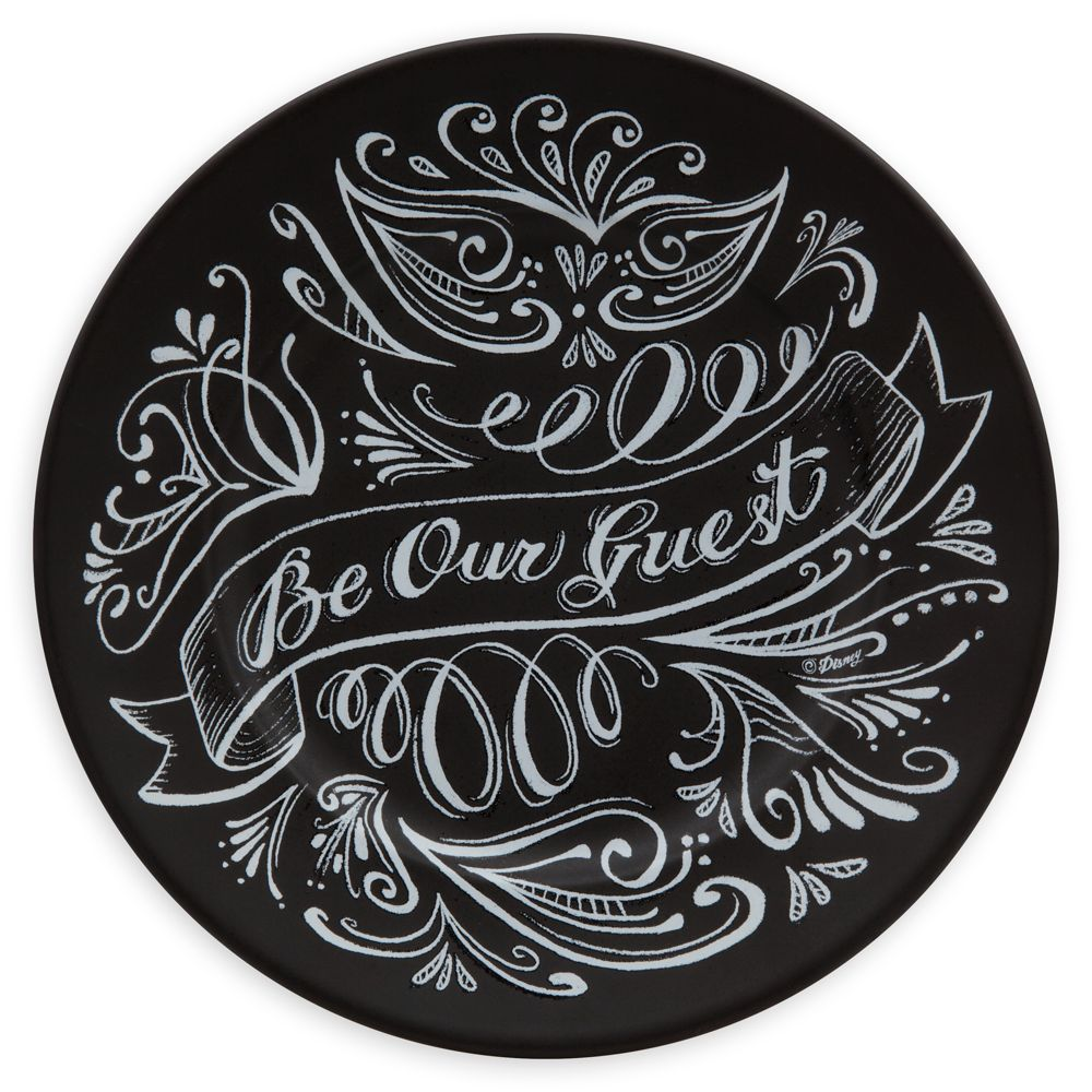 Be Our Guest Dessert Plate  Black Official shopDisney