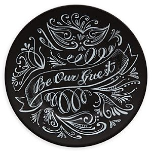 Be Our Guest Dessert Plate - Black