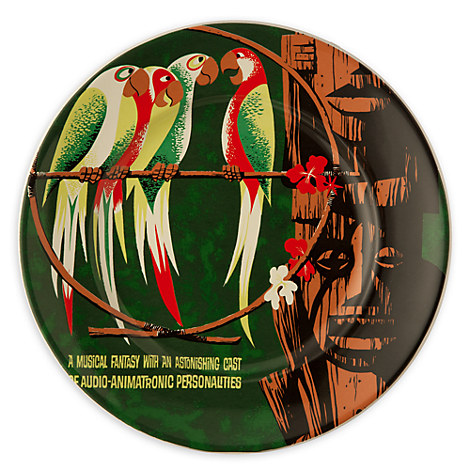 Disney Parks Attraction Poster Plate - Enchanted Tiki Room - 7''