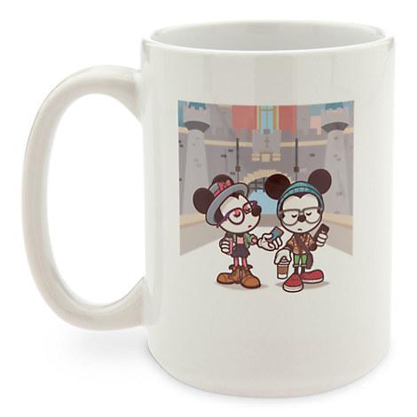 Mickey and Minnie Mouse ''Castle Coffee Break'' Mug