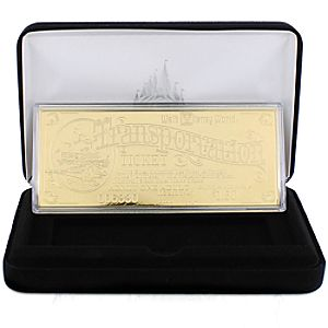 Walt Disney World Replica 24K Gold Plated Transportation Ticket - Limited Edition