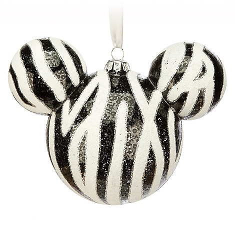 Mickey Icon Ornament - Zebra
