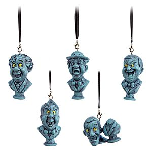The Haunted Mansion Busts Ornament Set