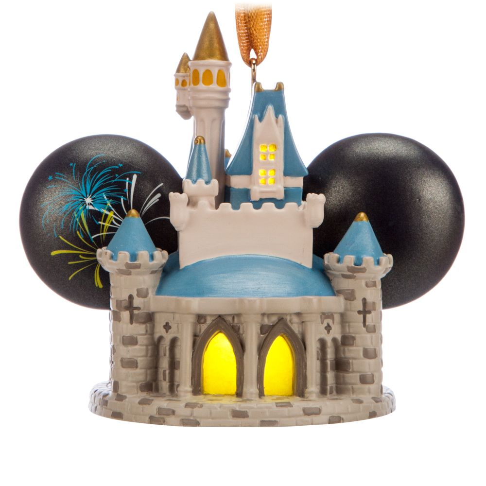 Cinderella Castle Light-Up Ear Hat Ornament – Walt Disney World