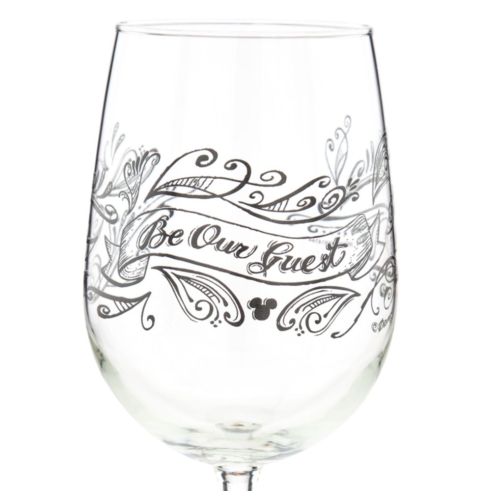 Be Our Guest Stemmed Wine Glass – 16 oz.