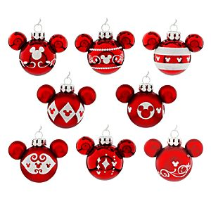 Mickey Mouse Icon Ornament Set – Red