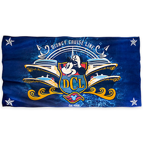 Mickey Mouse Disney Cruise Line Towel