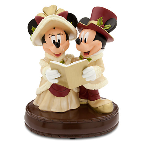 Mickey and Minnie Mouse Victorian Holiday Figure
