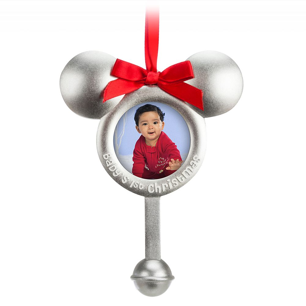 Mickey Mouse Icon Photo Frame Ornament – ''Baby's 1st Christmas''