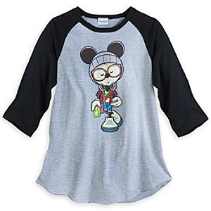 "Mickey Mouse ""A Hipsters Life for Me"" Raglan Tee for Adults"