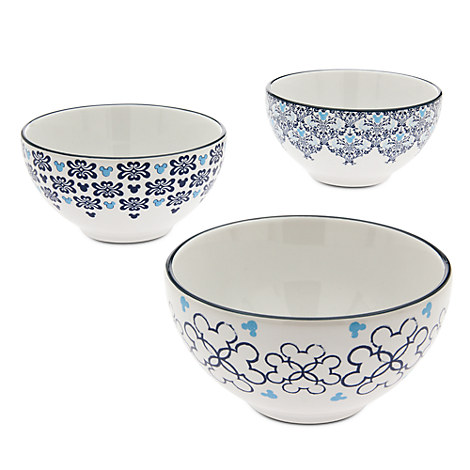 Mickey Mouse Icon Indigo Soup Bowl Set - Small