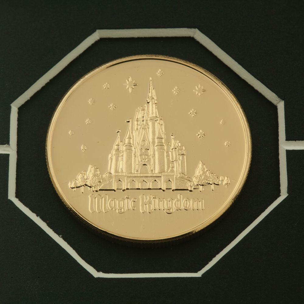 Cinderella Castle Etched Glass Panel with 24kt Gold Overlay Medallions – Walt Disney World – Limited Edition