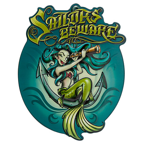 Pirates of the Caribbean Mermaid Plaque - Blue Hair