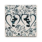 Mickey Mouse Icon Indigo Tile - Mickey and Minnie Silhouette