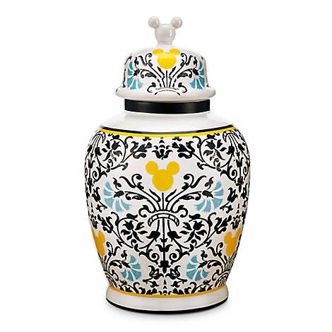 Mickey Mouse Icon Indigo Vase with Lid
