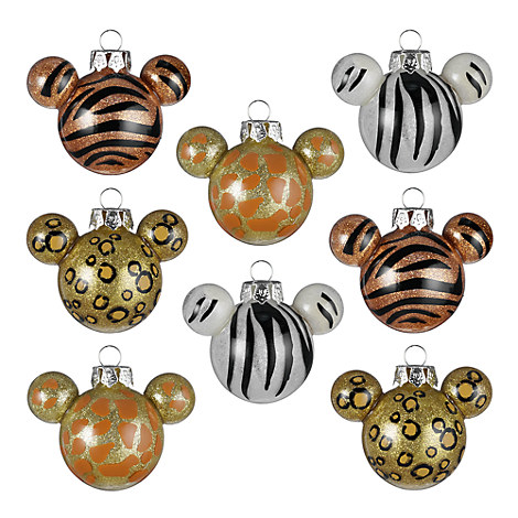 Mickey Mouse Animal Print Ornament Set