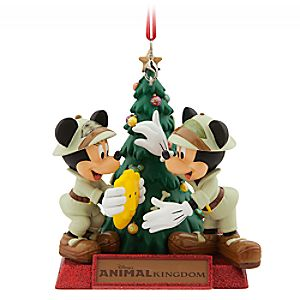 Mickey and Minnie Mouse Holiday Ornament – Disney's Animal Kingdom