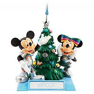 Mickey and Minnie Mouse Holiday Ornament – Epcot