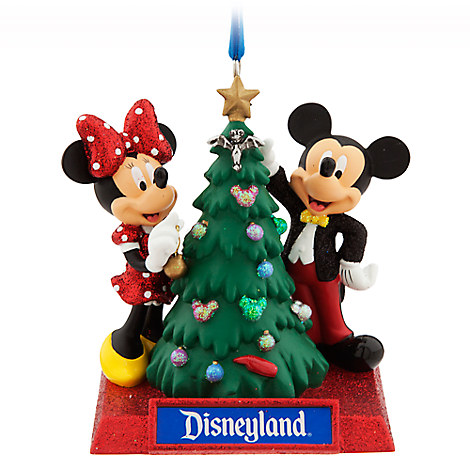 Mickey and Minnie Mouse Holiday Ornament - Disneyland