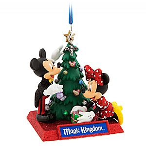 Mickey and Minnie Mouse Holiday Ornament – Magic Kingdom