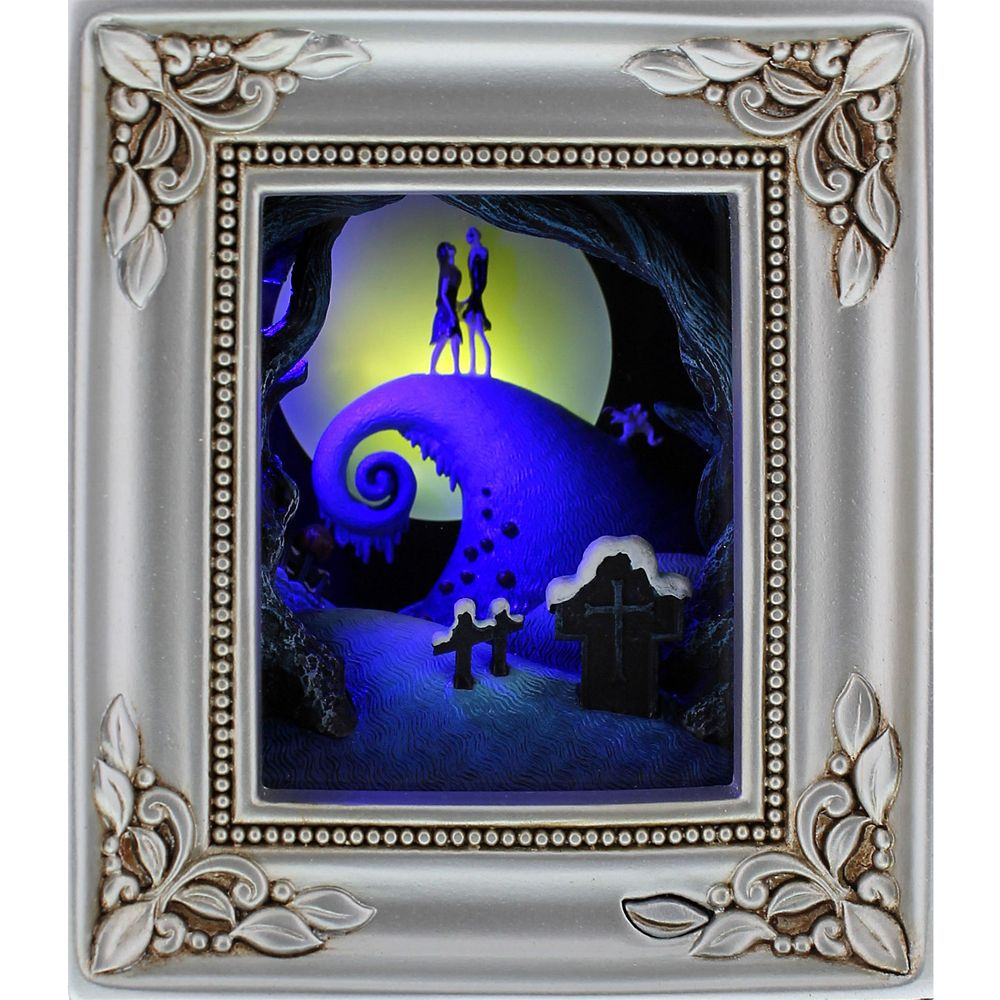 Tim Burton's The Nightmare Before Christmas ''Jack and Sally Embrace'' Gallery of Light by Olszewski