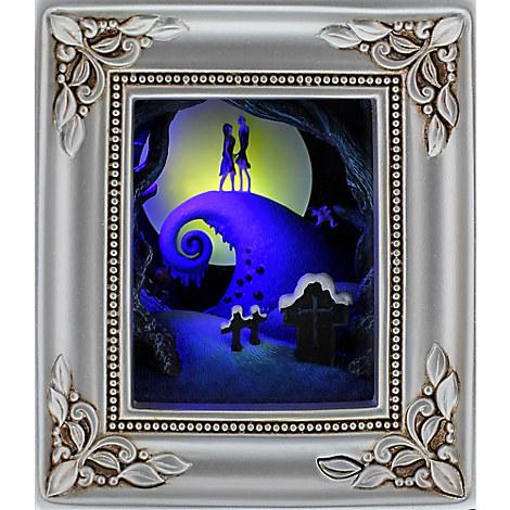 Tim Burton's The Nightmare Before Christmas ''Jack and Sally Embrace'' Gallery of Light by Olszewski