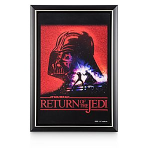 Disney Store Star Wars: Return Of The Jedi Movie Poster Reproduction