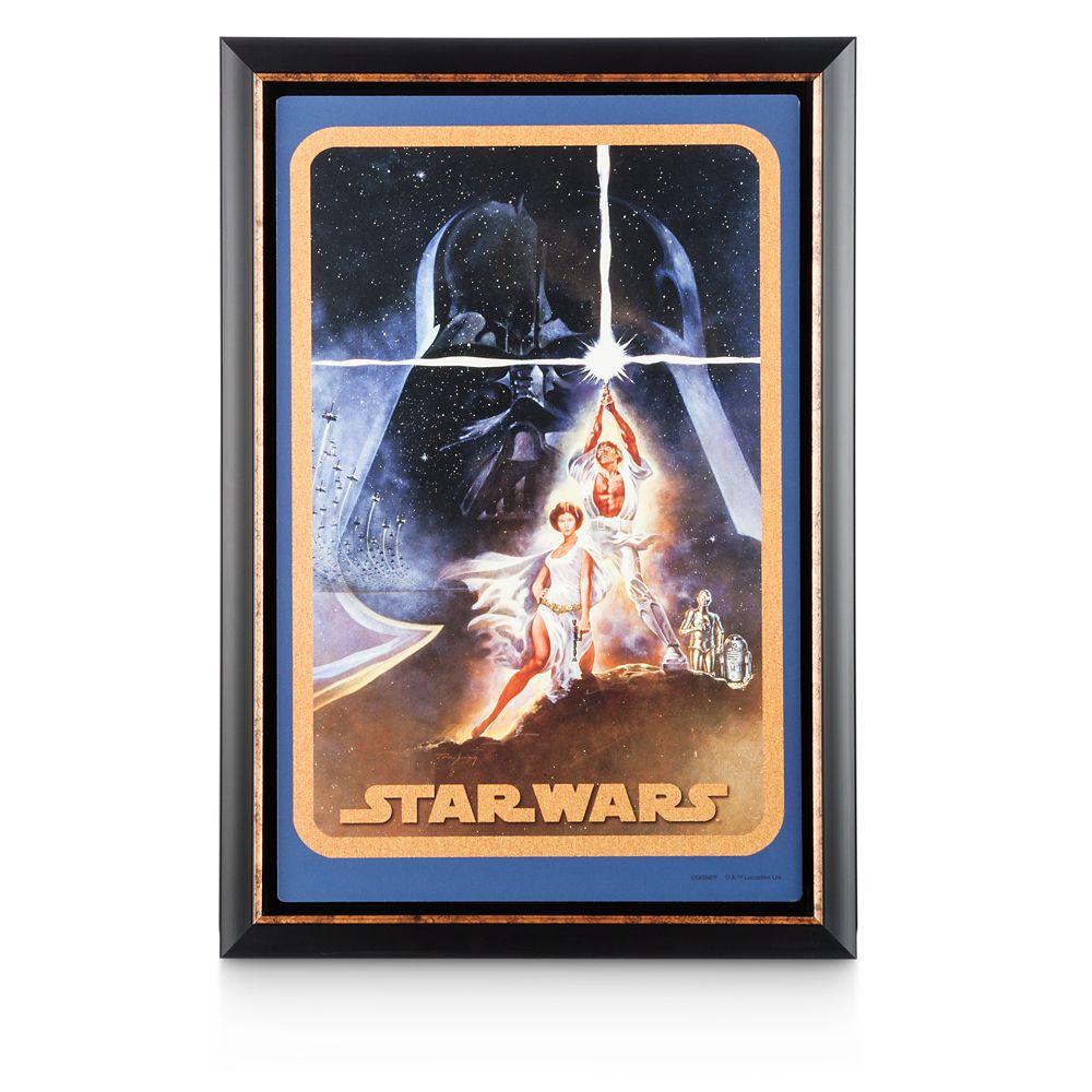Star Wars Movie Poster Reproduction Metal Print – Framed – Original One Sheet